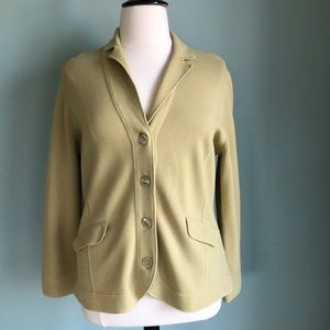 Jones New York Collection celery green jacket XL